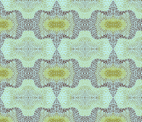 Green and brown bat paths fabric by su_g on Spoonflower - custom fabric