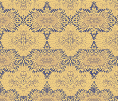 Indigo and violet bat paths on apricot fabric by su_g on Spoonflower - custom fabric