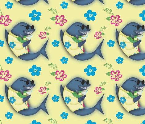 Aloha! Shark fabric by brandymiller on Spoonflower - custom fabric