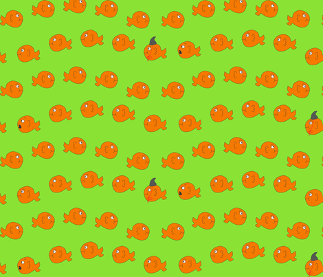 Killer Goldfish fabric by pininkie on Spoonflower - custom fabric