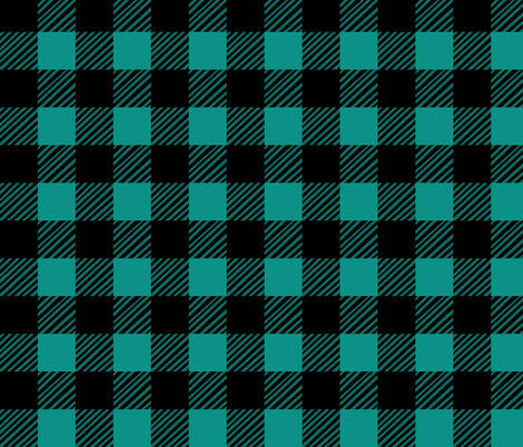 Teal Plaid fabric by pond_ripple on Spoonflower - custom fabric