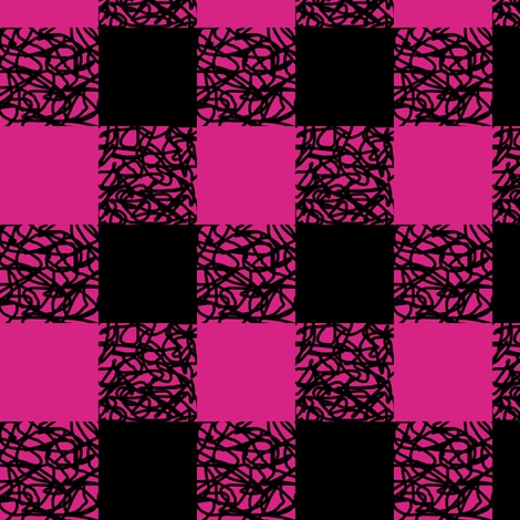 Fuchsia Scumbling Plaid