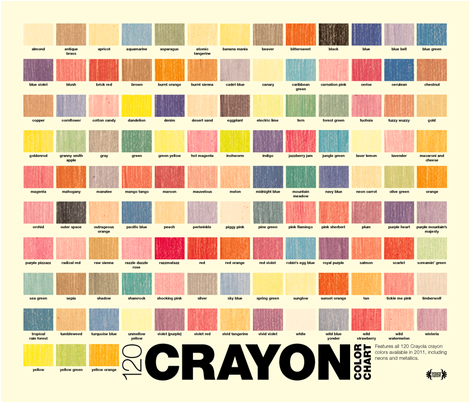 Crayon Color Chart Pennycandy Spoonflower