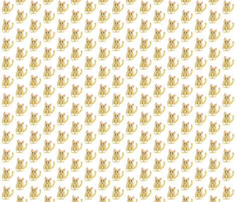 Happy Kitters Yellow fabric by bblaboss on Spoonflower - custom fabric