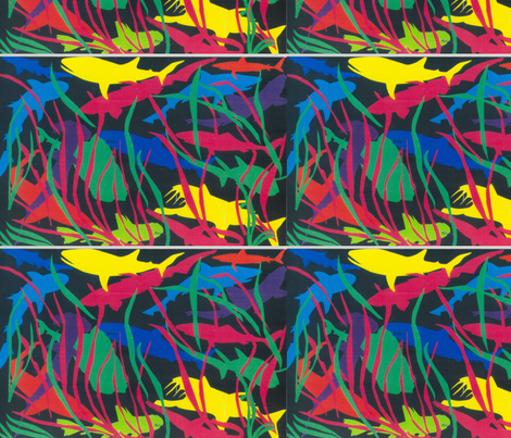 Shark Tank fabric by kra on Spoonflower - custom fabric