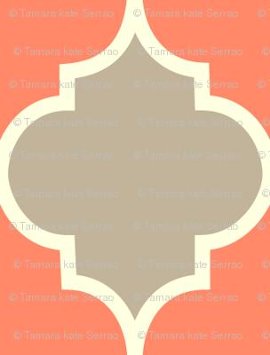 Moorish - coral & dove