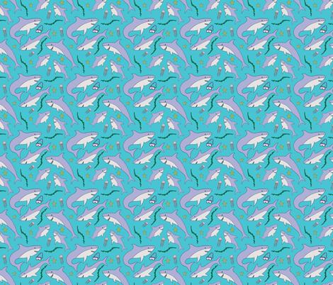 Shark School fabric by audzipan on Spoonflower - custom fabric