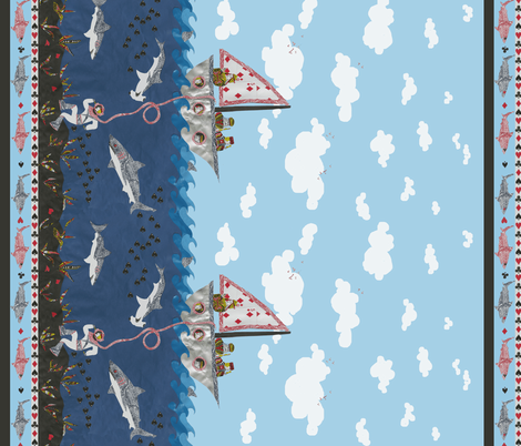 Peril at Poker Point ( viewing issue, click to see true image) fabric by ceanirminger on Spoonflower - custom fabric