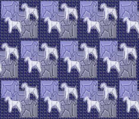Kerry Blue Terrier Fabric Two fabric by dogdaze_ on Spoonflower - custom fabric