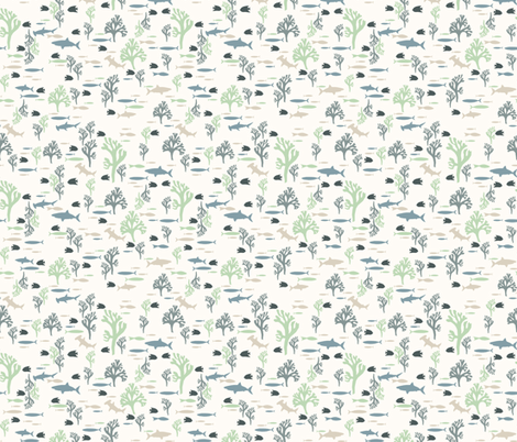 Serene fabric by mondaland on Spoonflower - custom fabric