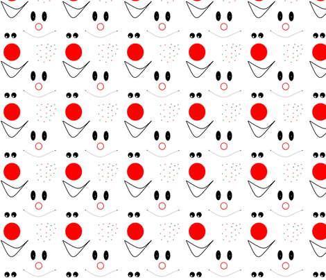 Happy Clown Faces fabric by annalisa222 on Spoonflower - custom fabric