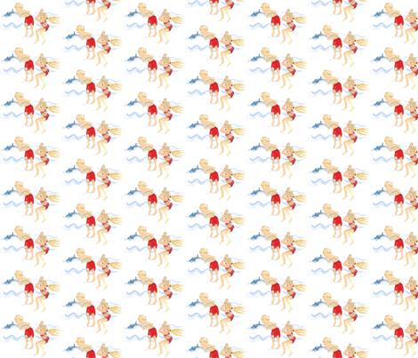 Seaside shark play fabric by gvide on Spoonflower - custom fabric