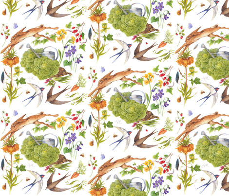Gilbert's Garden fabric by jan_harbon on Spoonflower - custom fabric