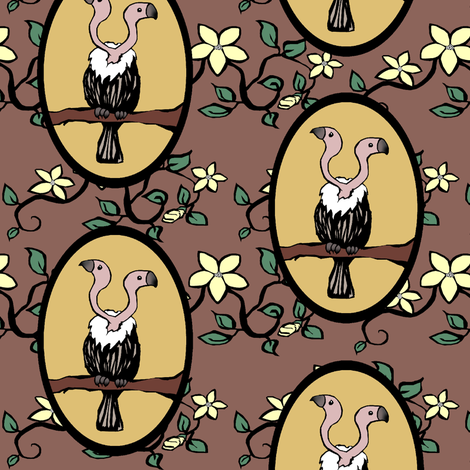 Matchbox Vulture fabric by pond_ripple on Spoonflower - custom fabric