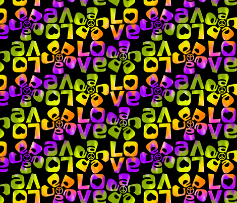 Peace and Love fabric by collectivesurfacellc on Spoonflower - custom fabric