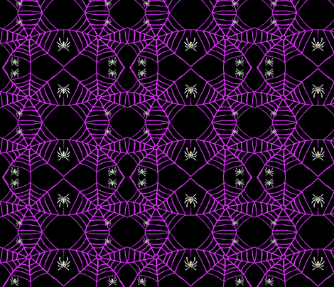 Spooky Spidery Night fabric by robin_rice on Spoonflower - custom fabric