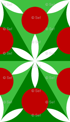 holly leaf, flower and berry 6x