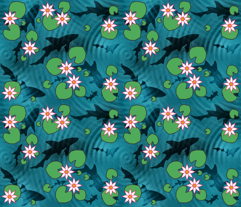 Scary_waters_small fabric by adranre on Spoonflower - custom fabric