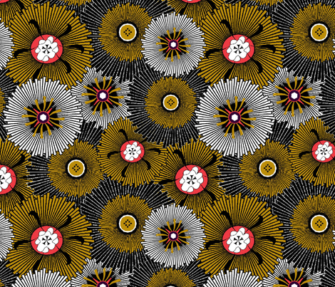 Starburst fabric by mag-o on Spoonflower - custom fabric