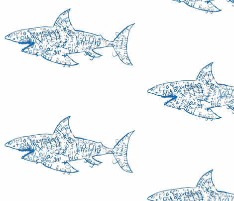 Word Shark fabric by agb on Spoonflower - custom fabric
