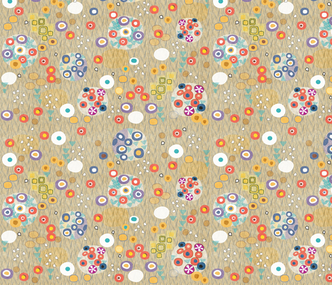 After Klimt - Woman fabric by glimmericks on Spoonflower - custom fabric