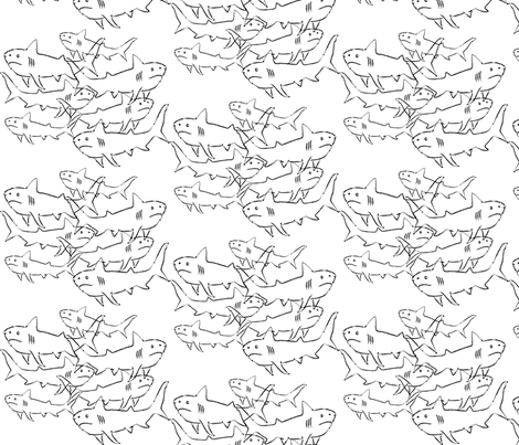 SHARKS fabric by garwooddesigns on Spoonflower - custom fabric