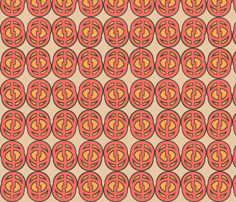 Comic Circle (Red) fabric by david_kent_collections on Spoonflower - custom fabric