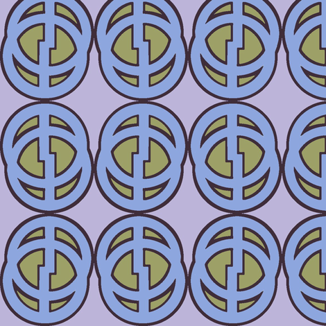 Comic Circle (Blue) fabric by david_kent_collections on Spoonflower - custom fabric