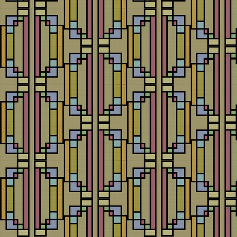 Stained Glass (Tribal) fabric by david_kent_collections on Spoonflower - custom fabric