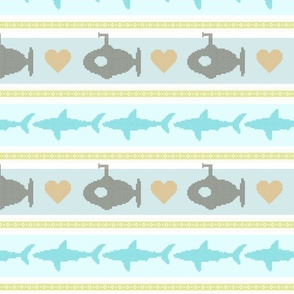 shark crosss stitch