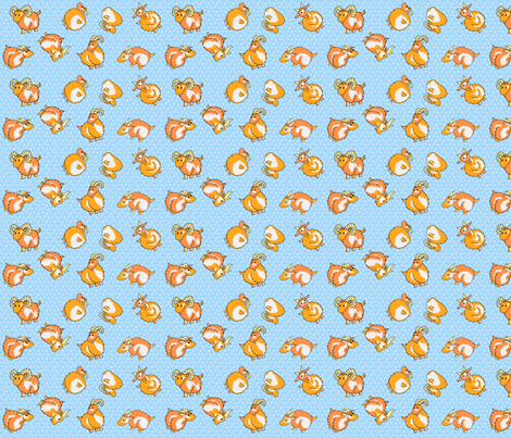 Pre Chevres fabric by thelazygiraffe on Spoonflower - custom fabric