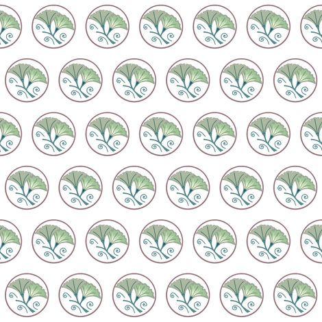 NP-Pale green and yellow morning glories on white fabric by su_g on Spoonflower - custom fabric