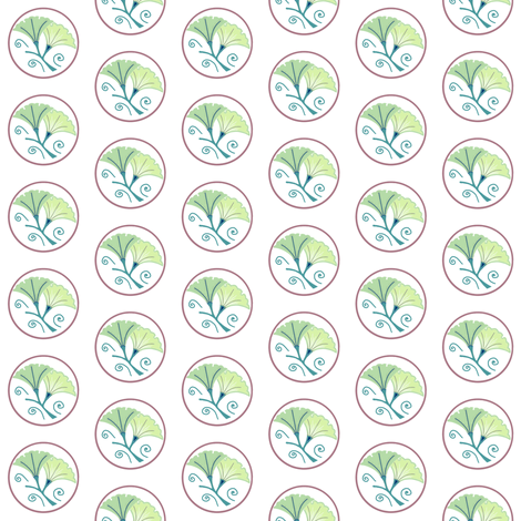 Green morning glories on white fabric by su_g on Spoonflower - custom fabric