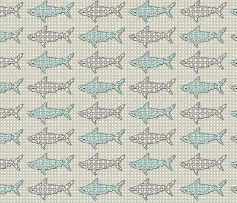 TEETH Beneath the Reef fabric by mytinystar on Spoonflower - custom fabric