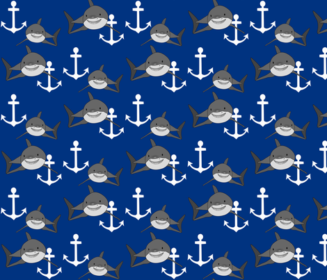 shark1 fabric by mayabella on Spoonflower - custom fabric