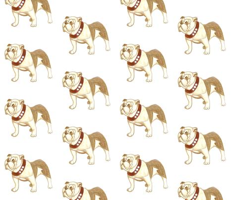 bulldog fabric by harrietbedford on Spoonflower - custom fabric
