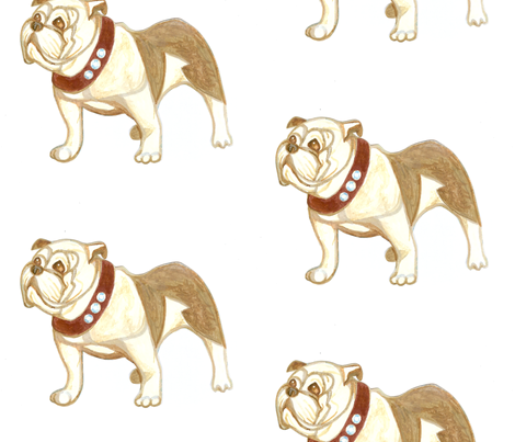 bulldog fabric by harrietbedford on Spoonflower - custom fabric