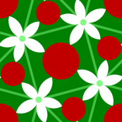 holly leaf, flower and berry 5