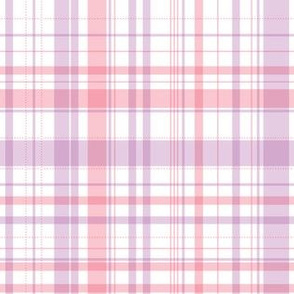 Ride a bike coordinating check in pink and lilac