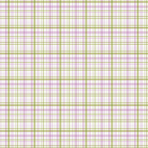 Ride a bike coordinating check in olive and lilac (smaller plaid)