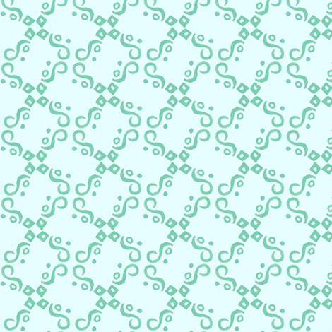aqua and teal tile fabric by katrinazerilli on Spoonflower - custom fabric