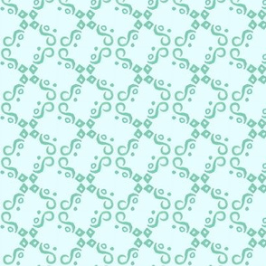 aqua and teal tile