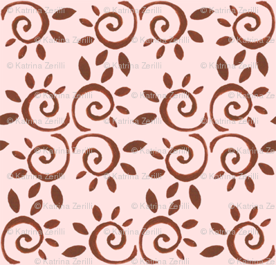 brown and cream tile