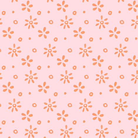 pink and coral ditsy  fabric by katrinazerilli on Spoonflower - custom fabric