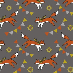 Foxes and banners