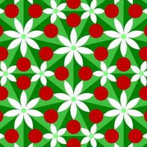 holly leaf, flower and berry 7x split