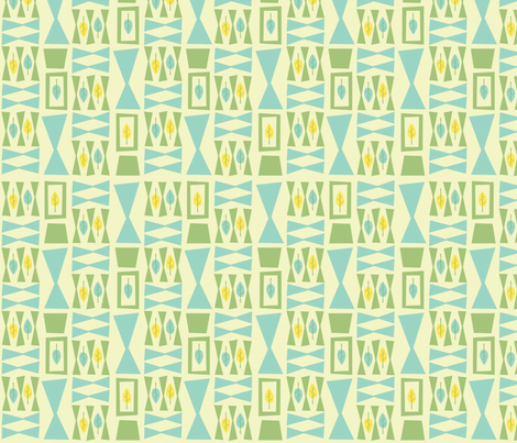 Leaflets - ivory fabric by acbeilke on Spoonflower - custom fabric