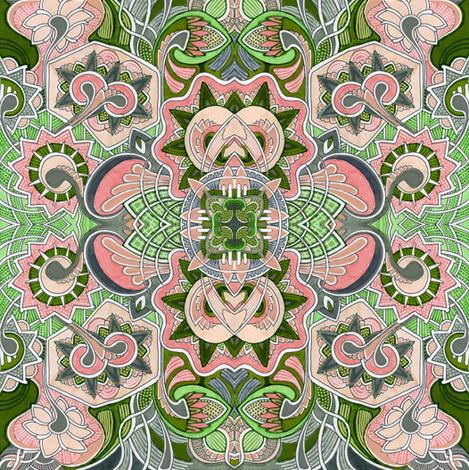 Strawberry Fairy Map fabric by edsel2084 on Spoonflower - custom fabric