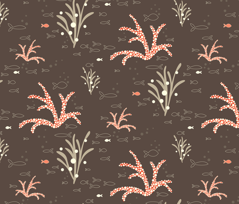 Coral & Kelp fabric by kayajoy on Spoonflower - custom fabric