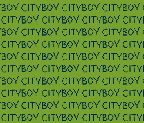 CITYBOY- Green fabric by gantpants on Spoonflower - custom fabric
